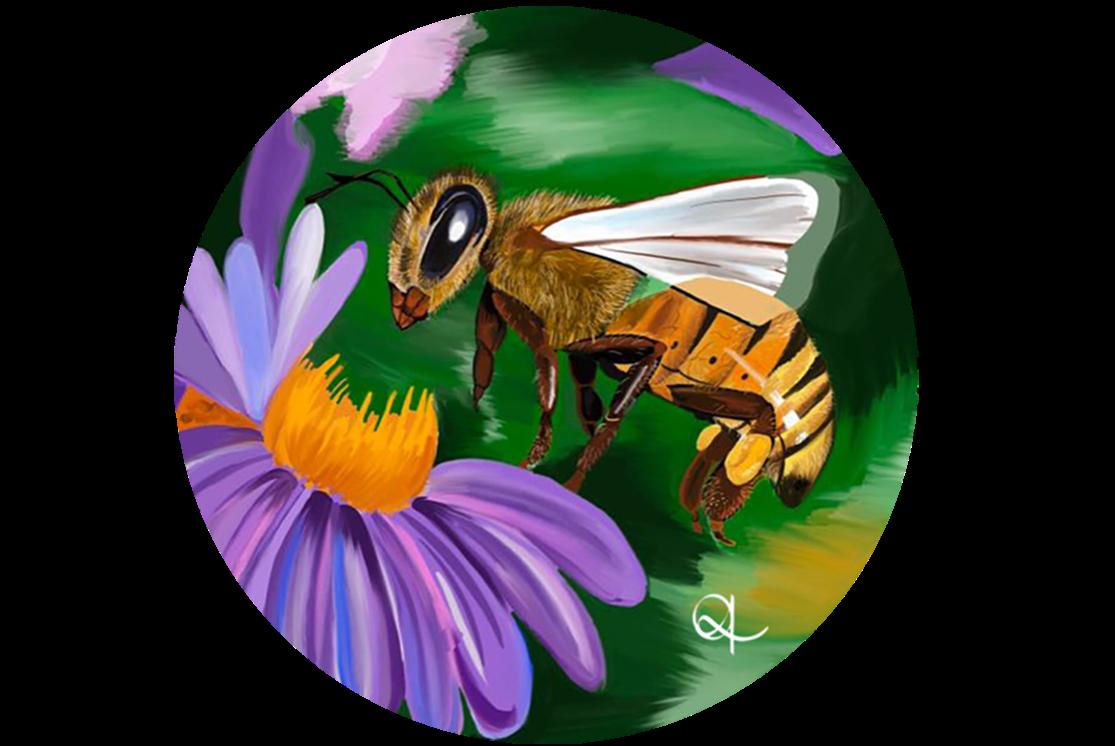 Ilustración de abeja